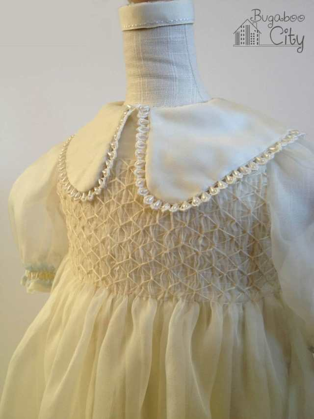 Vintage Vogue baptism gown smocking