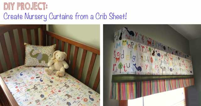 Nursery Crib Sheet Curtains
