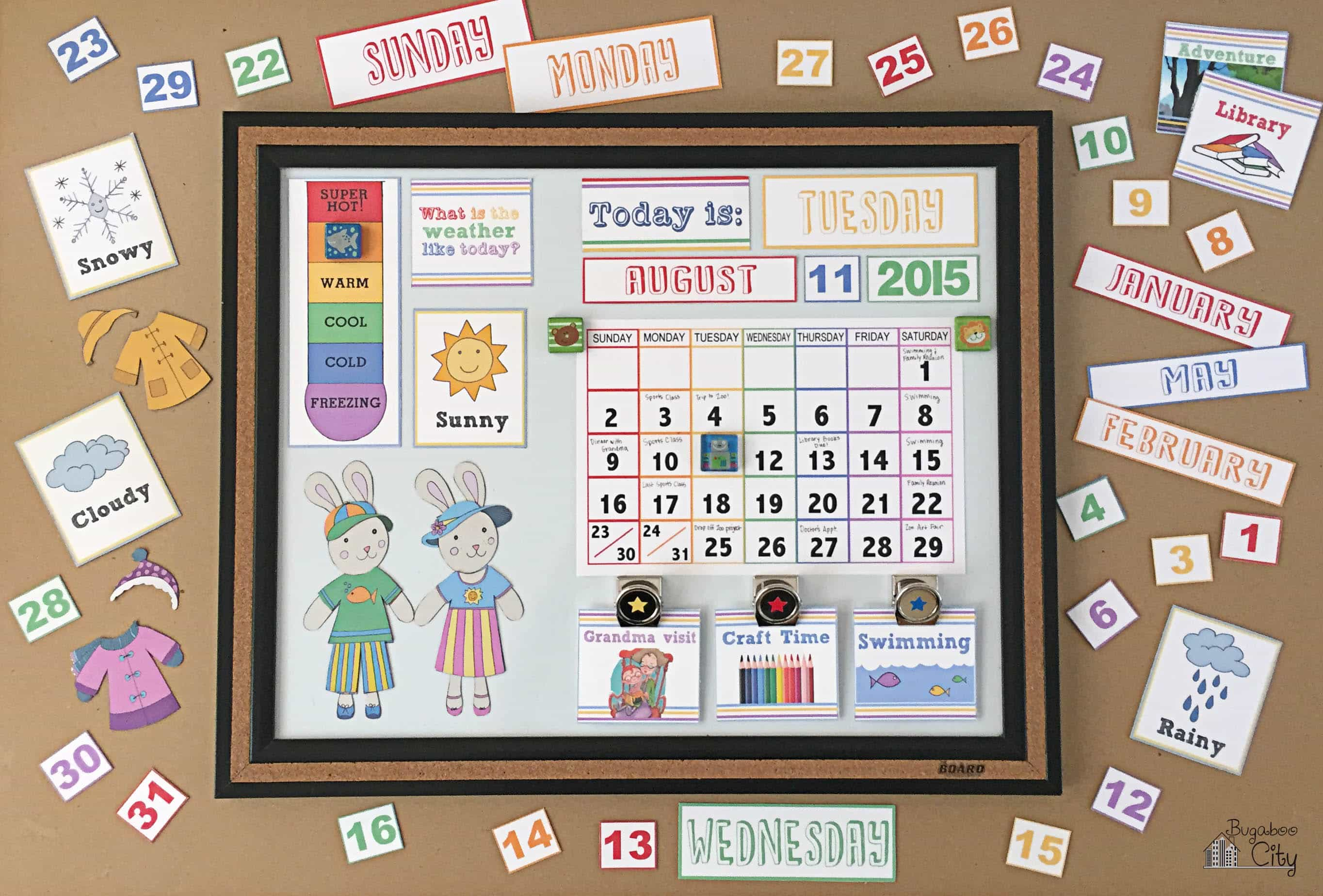 Diy Calendar For Preschool : Diy toddler calender magnet board lots of free printables
