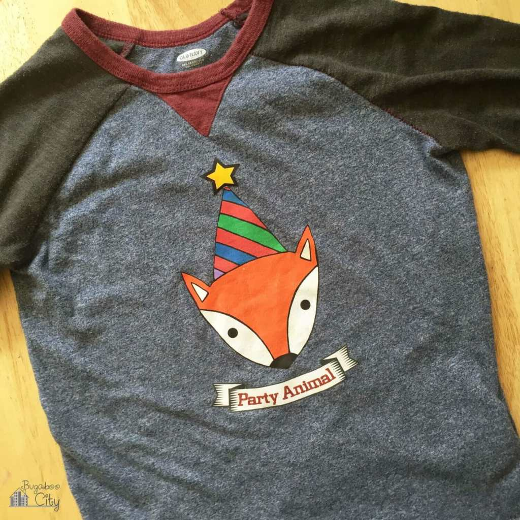 DIY Fox Party Animal Shirt