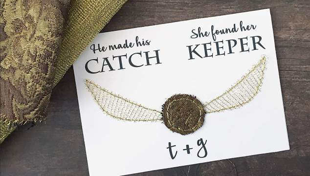 Harry Potter DIY Engagement and Wedding Card