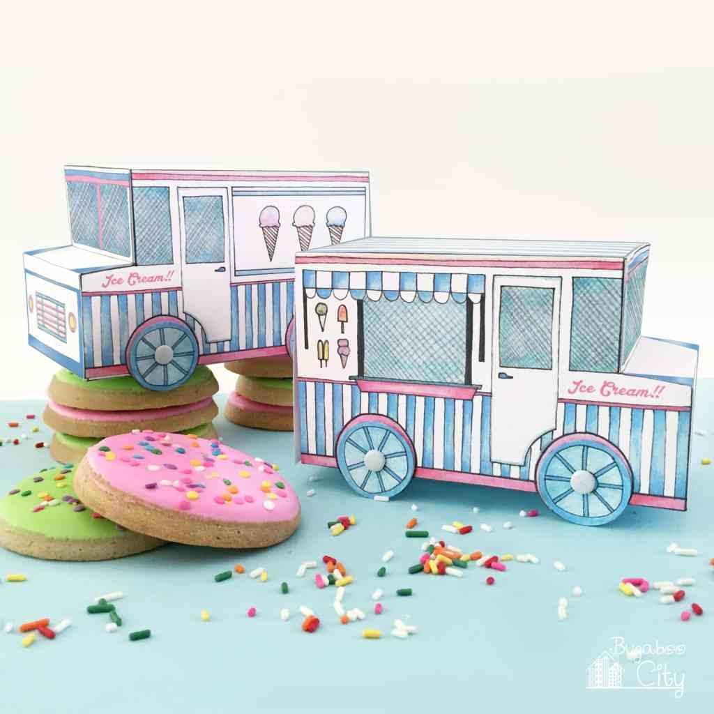 Ice Cream Truck Treat Box Free Printable