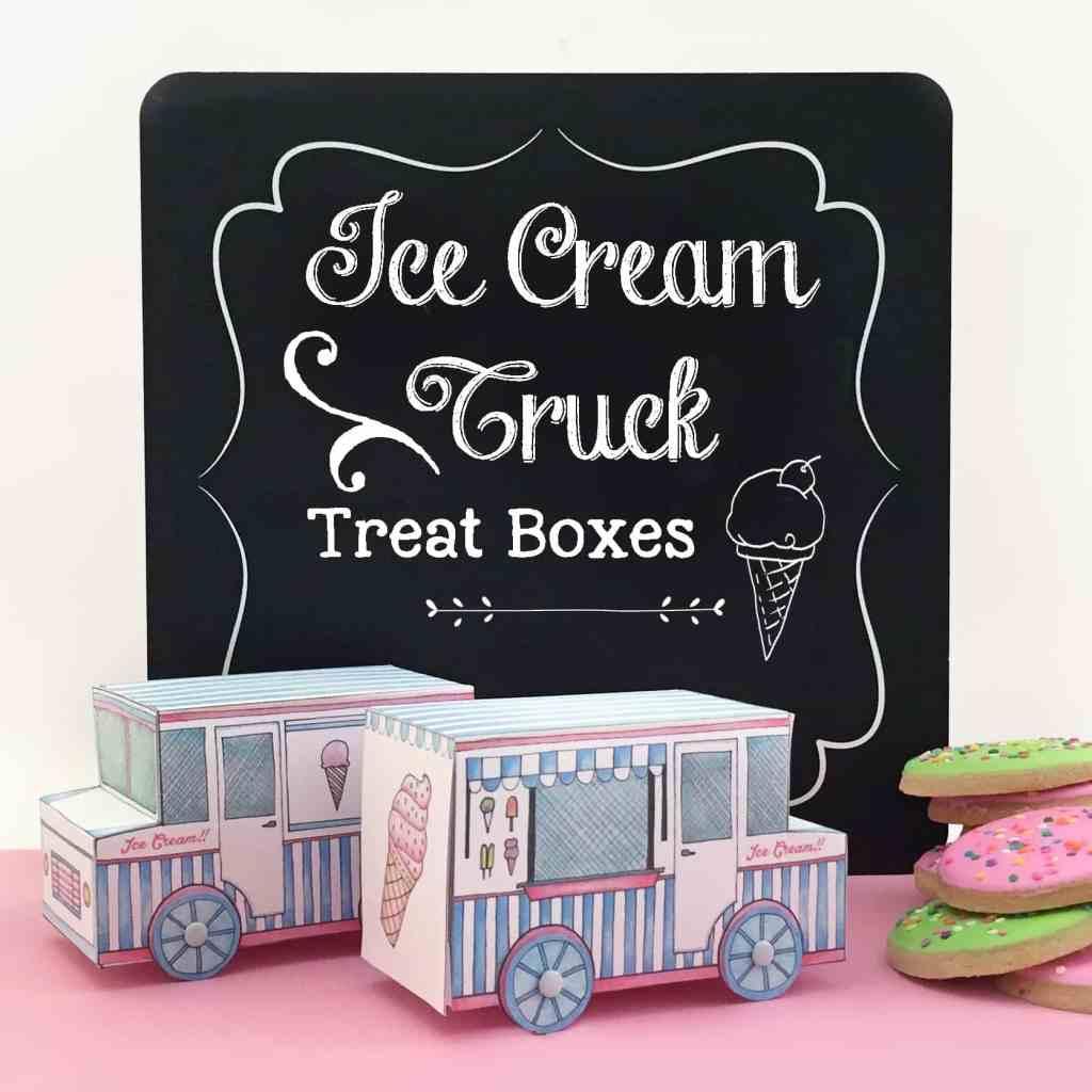 Ice Cream Truck Treat Boxes