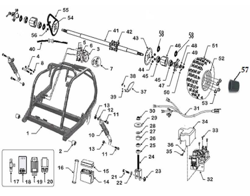 baja motorsports dune 150 wiring diagram