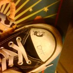 Janie drew a bug on her borther's shoe. Hope he's okay with that.
