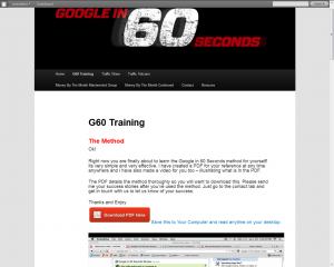 Google in 60 Seconds - Members Area