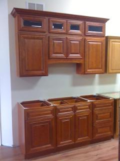 Faircrest Cherry Kitchen Cabinets Showroom Display For