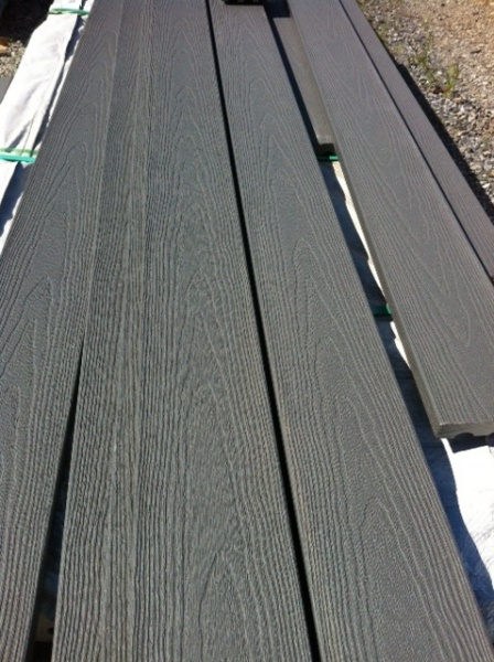 Guardeck pewter composite decking deck in stock lumber for Wood decking boards for sale