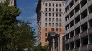 The Boston Building as seen from Exchange Place in downtown Salt Lake City.  Photo by Andy Stevenson.