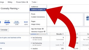 how to target Facebook competitors