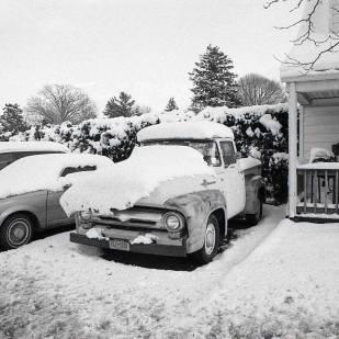 Truck in Snow, Hicksville, ©David Carol