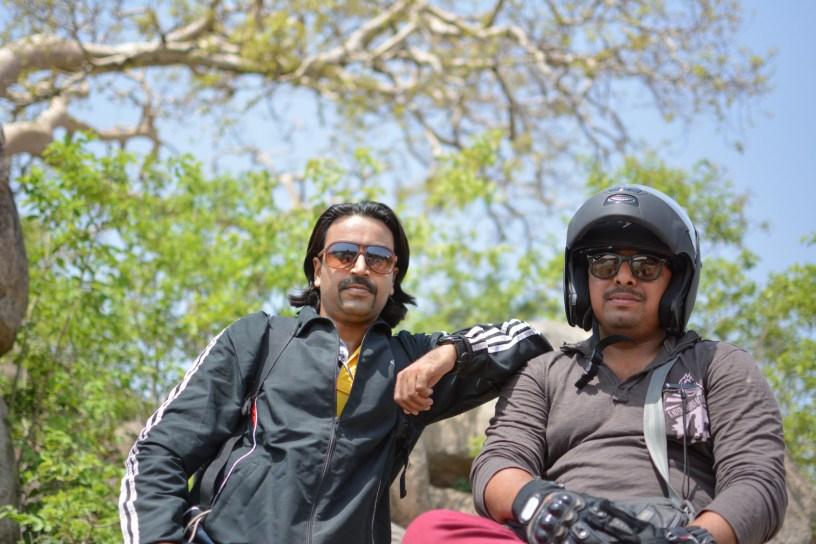 Bulleteers during their breakfast ride to Datia Palace, in Datia, Madhya Pradesh
