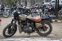 A good looking royal enfield desert storm at the rider mania 2015