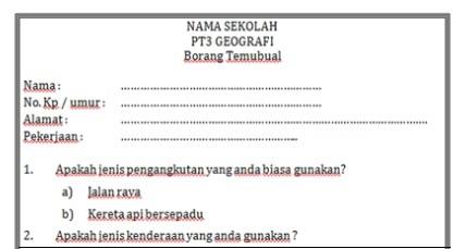 Contoh Soalan Temubual Pt3 Sejarah 2018 Jalan Moren