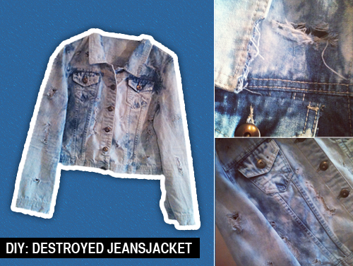 diyjeansjacke DIY: Destroyed Jeansjacke