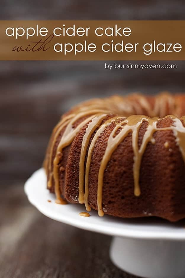 Apple Cider Pound Cake with Apple Cider Glaze #recipe by bunsinmyoven.com