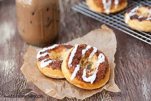 cinnamon roll baked donuts recipe