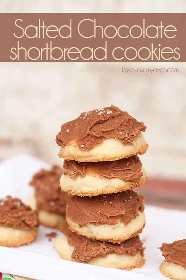 Salted Chocolate Shortbread Cookies #recipe
