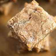 Easy one bowl blondies with a cinnamon sugar topping!