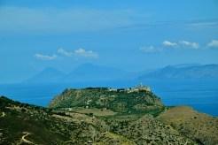 Montalbano Elicona vista sul santuario di Tindari