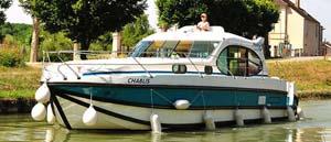 Burgundy self-drive rental boats