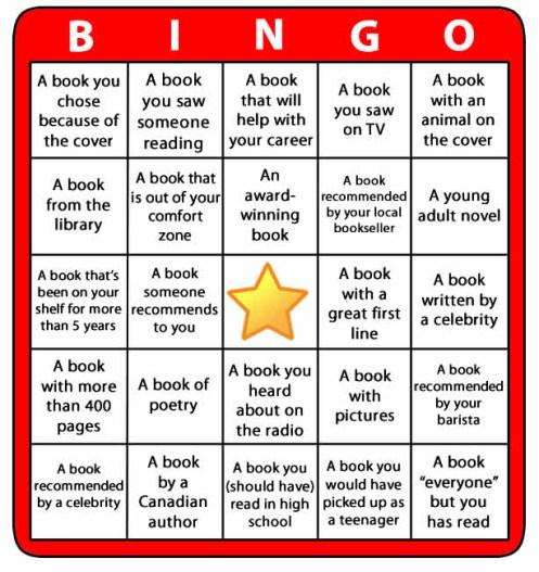 Reading Bingo Boad