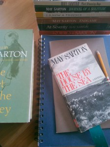 May Sarton Stacks and Notebook