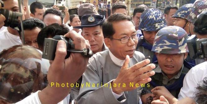 Image result for Arakanese politician U Aye Maung and author Ko Wai Hin Aung