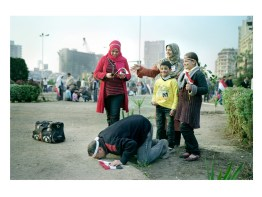 Sami (45) and his family are from Sinkari. They came to Cairo to see Tahrir Square. He said hating Mubarak for 30 years and embraces the Egyptian soil.