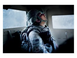 An American soldier on the way back from a mission. Afghanistan, Gardez.