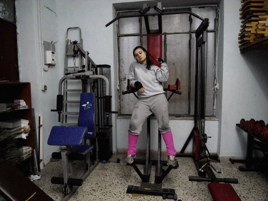 Excelsior Boxe Gym, Marcianise, Caserta // Italian boxing champion Viviana, 18 years old.