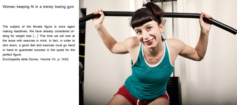Woman keeping fit in a trendy boxing gym