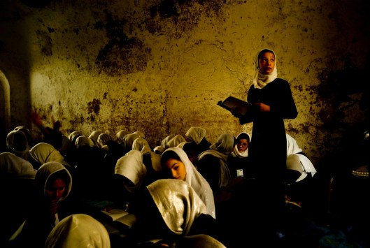 Afghanistan. The largest woman's school is located in Herat. Some 13,000 girls and young women studyin overcrowded conditions amid scorpionsin summer and fighting off the cold in winter.