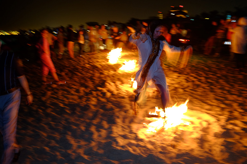 fire dance woman