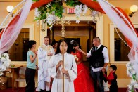 A quincea–era ceremony at St. Joseph's Catholic Church in Dalton, Georgia on July 17, 2011.