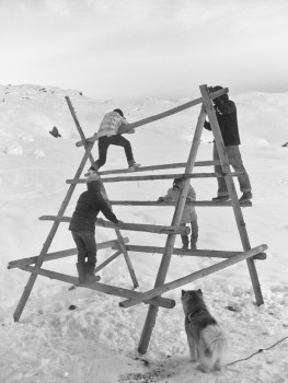 Tasiilaq, 2010. There's not much to do for kids to enjoy and have fun here forcing them to use as much as they can imagine as a playground.