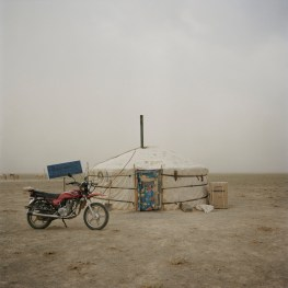 "Mongolia, Gobi, Omongovi, 2012 The ""ger"" where the nomad family lives"