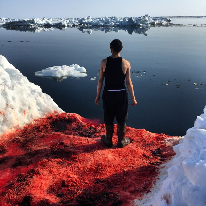 Never during my original 1985-1995 documentation of Iñupiat whale hunting did I experience a day in sun so hot on skin as May 5, 2015. Aaron Milligrock. Point Hope, Alaska – Tikigaq.
