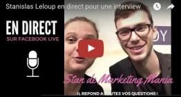 Stanislas Leloup en direct pour une interview