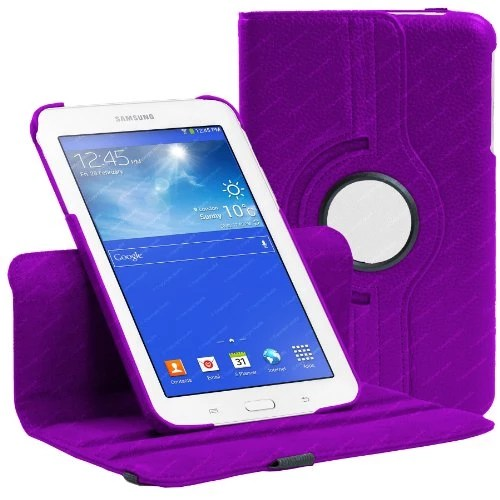 Housse Pourpre pour Samsung Galaxy Tab 3 7.0 LITE ( T110 / T111 ) avec mécanisme de 360 degrés et vec Gratuit Protecteur d'écran et Stylus Stylo Bille – Stuff4®