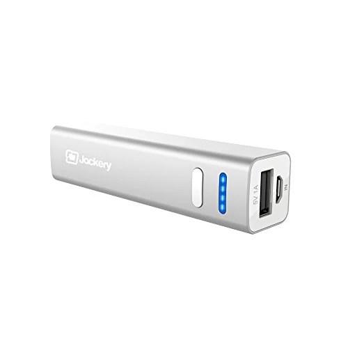 Jackery Mini – 3350mAh Chargeur Portable Batterie Externe de Secours Universelle Power Bank de poche pour iPhone, iPad, Android, Smartphone, téléphone portable, tablette (Argent)