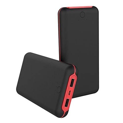 Batterie Externe 20000mAh, Chargeur Portable de Haute Capacité 2 Ports USB Batterie de secours Identification Automatique et Multi-protection pour les Smartphones, les Tablettes ou autres Appareil Mobile