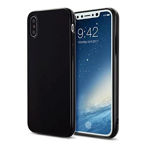 Coque iphoneX case cover Etuis en Gel Silicone et TPU Coussin d'air [Anti-rayures] Premium Flexible et Souple pour iphoneX(2017)noir