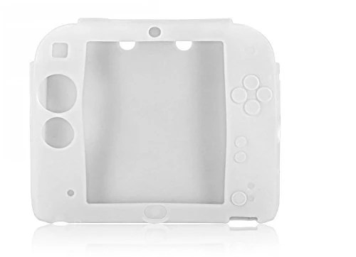Housse étui protection silicone pour Nintendo 2 DS 2DS – Anti choc / rayures – Blanc
