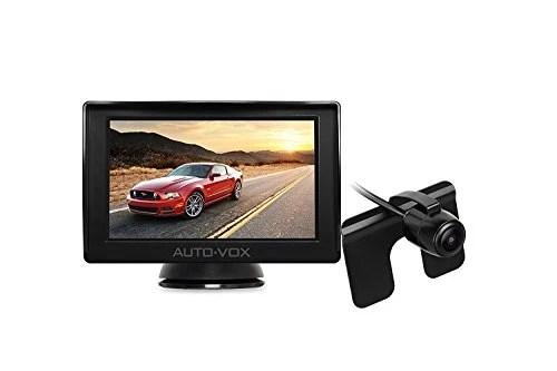 AUTO-VOX Caméra de Recul etanche IP68, 4.3 pouces TFT Ecran en haute définition, Vision Angle 120°, super vision nocturne