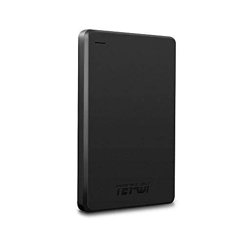 TEYADI 2.5″ 1To Ultra-Mince Disque Dur Externe Portable 9mm, USB3.0 SATA, Stockage HDD Compatible pour PC, Mac, Ordinateur de Bureaup, Ordinateur Portable, Wii U, Xbox, PS4 (Noir)