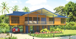 Exterior Niu Home design from PNG Forest Products. Credit: PNG Forest Products