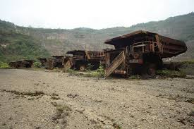 The deserted Panguna mine. Credit: Ramumine