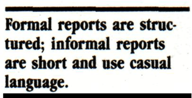 Difference between Formal and Informal Reports