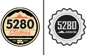 5280 Burger Bar (right) claimed in the lawsuit that 5280 Sliders' circular logo resembles its own too closely.